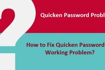 Quicken Password not Working