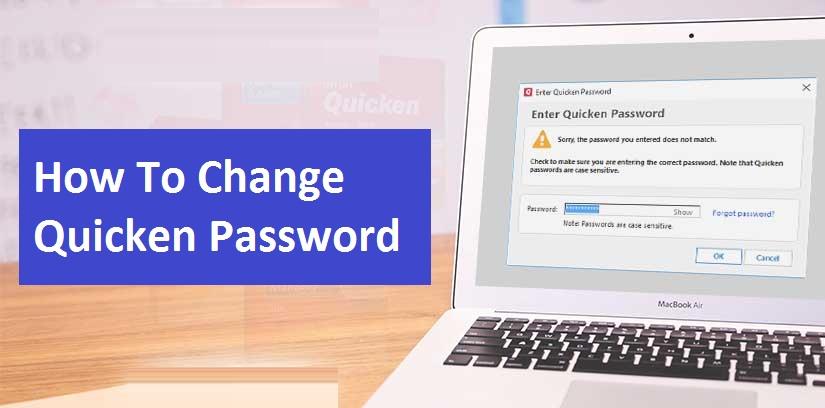 how to change quicken password