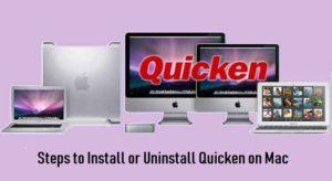 Install or Uninstall Quicken on Mac