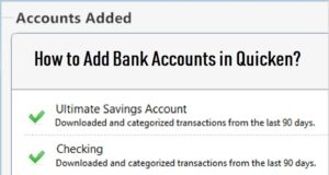 Add Bank Accounts in Quicken