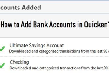 Add Bank Accounts in Quicken
