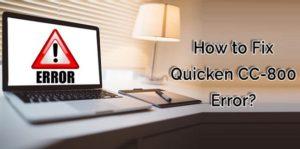 Fix Quicken Error CC-800