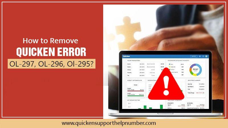 How to Remove Quicken Error OL-297, OL-296, Ol-295