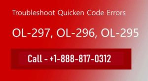 Remove Quicken Error OL-297, OL-296, Ol-295