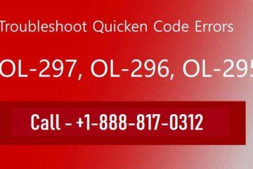 Remove Quicken Error OL-297, OL-296, Ol-295