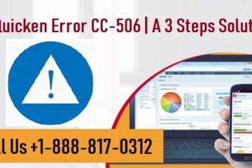 Fix Quicken Error CC-506
