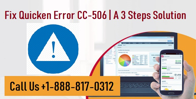 Fix Quicken Error CC-506 | A 3 Steps Solution +1-888-817-0312