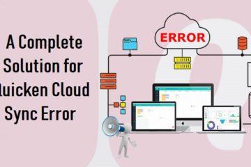 Quicken Cloud Sync Error