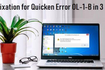 Quicken Error OL-1-B
