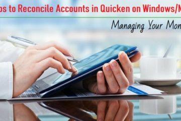 Reconcile Accounts in Quicken