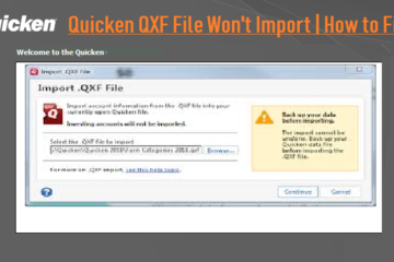Quicken QXF File Wont Import