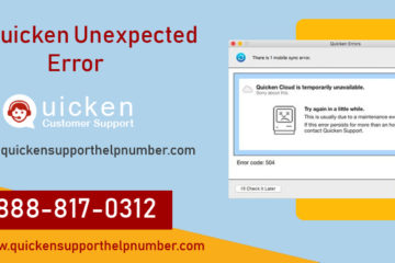 Fix Quicken Unexpected Error