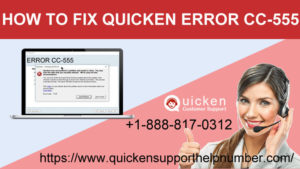 how to fix quicken error cc-555