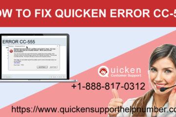 how to fix quicken error cc-555