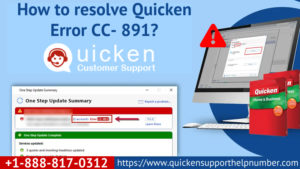 Quicken error CC- 891