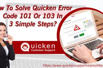 How To Solve Quicken Error Code 101 Or 103
