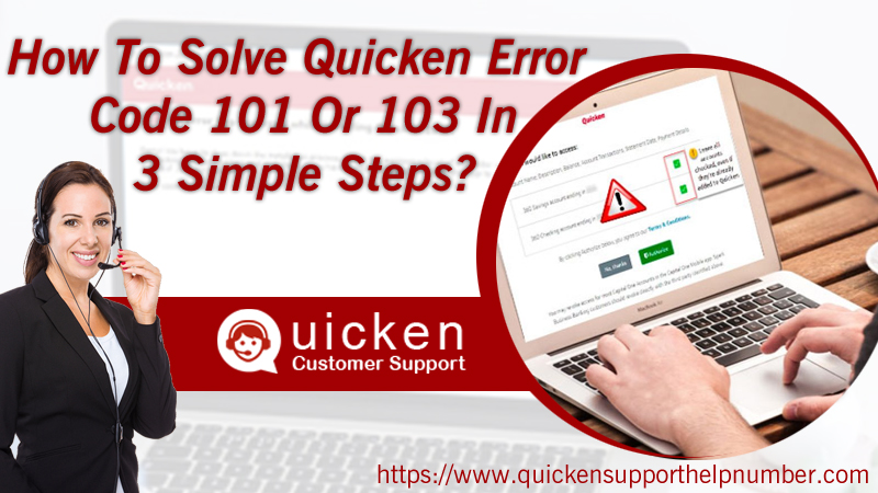 How To Solve Quicken Error Code 101 Or 103