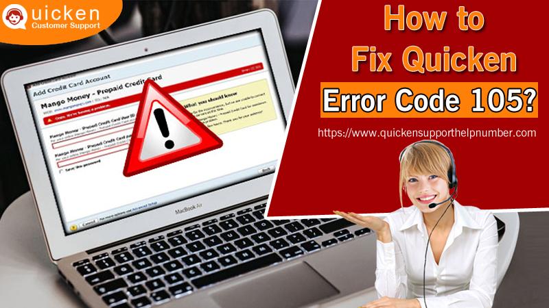 How to Fix Quicken Error Code 105