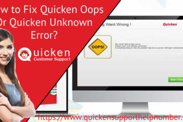 Fix Quicken Oops or Quicken Unknown Error
