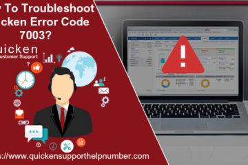 Quicken Error Code 7003