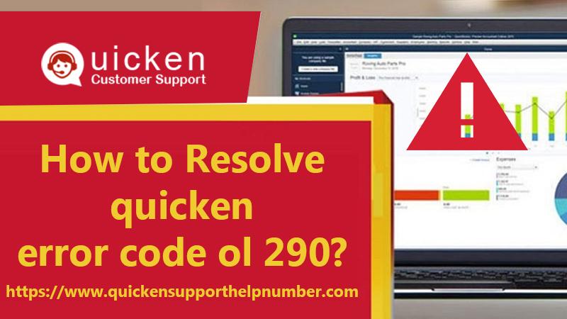 quicken error code ol 290