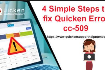 Quicken Error CC-509