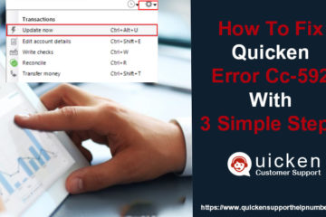 Quicken Error CC-592