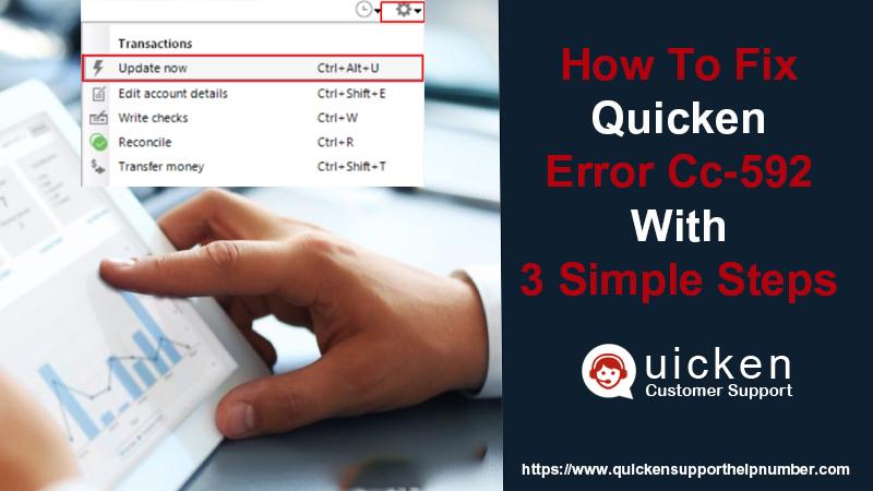 Quicken Error CC-592