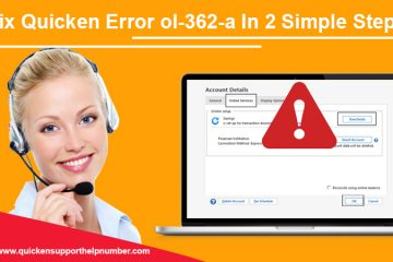 Fix quicken error ol-362-a