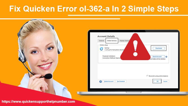 Fix quicken error ol-362-a