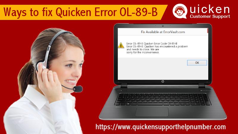fix Quicken Error OL-89-B