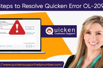 Resolve Quicken Error OL-209-b