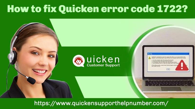 Quicken error code 1722
