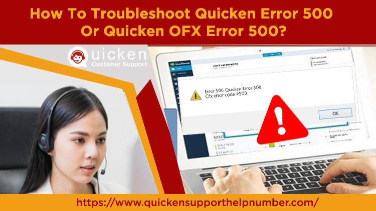 Troubleshoot Quicken Error 500 Or Quicken OFX Error 500
